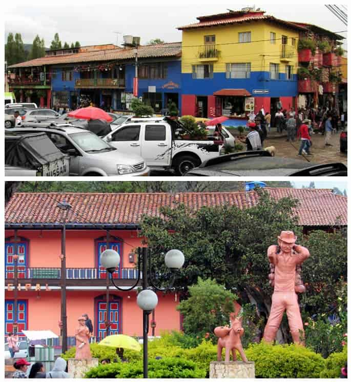 Plaza principal de Ráquira