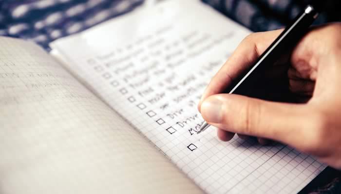 escribir en un papel